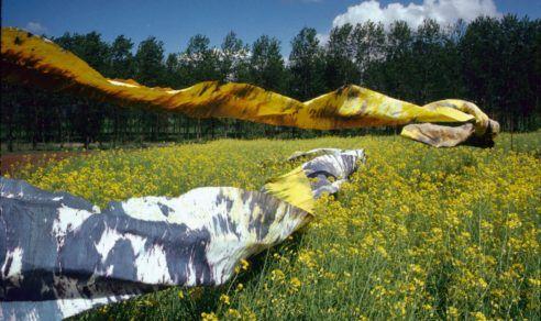 """""""Géographies jaunes et noires"""", Colz'art 1989."""