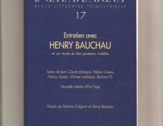 revue l'oeil de boeuf n°17 dessins, consacrée à H.Bauchau