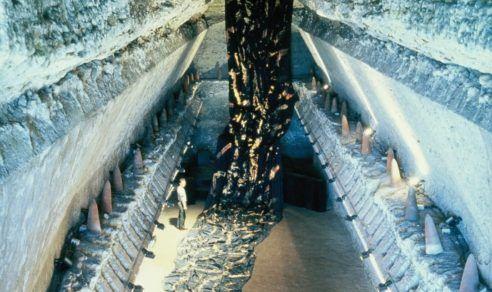 Greniers de César, château d'Amboise, 1993.